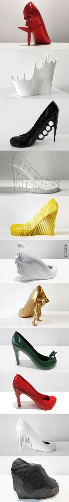 Awesome and kind of weird shoes. But fun and unique! For Halloween..?