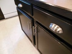 Gel stain your old oak cabinets.