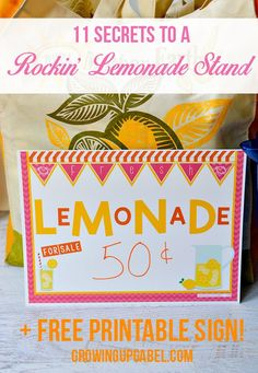 Looking for a fun idea for the kids this summer? Set up a lemonade stand! Use our tips - like providing drive up service - to rock the lemonade all summer long! Plus, use the free lemonade printable to advertise!