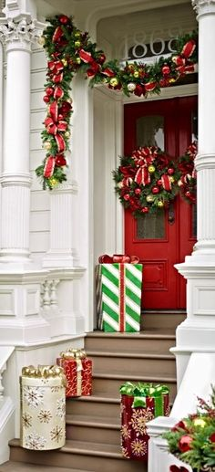 Holiday decorating done in no time flat... that's the joy of Jolly Holiday. A beautiful collection of pre-lit greenery bedecked with pine and cypress tips, fluted ornaments in red, green or gold, magnolia blooms, red berries, and bows.
