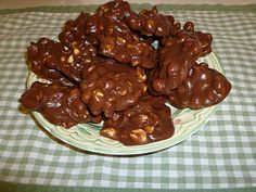 Chocolate Nut Clusters...made with sweetened condensed milk.  Gotta try these!