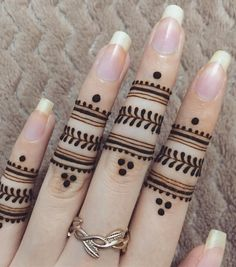 Dots henna tattoos m Henna Hand Designs, Eid Mehndi Designs, Finger Mehendi Designs, Henna Flower Designs, Henna Tattoo Designs Simple, Beginner Henna Designs, Mehndi Designs For Girls, Mehndi Design Photos, Mehndi Designs For Fingers