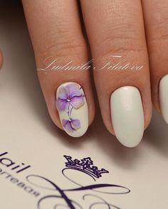 Покрытие натуральных ногтей гель-лаком + плоскостная лепка гелем