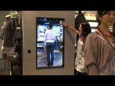 Interactive Mirror for DIESEL GINZA by IMGSRC / NON-GRID. Place : DIESEL GINZA Store (Japan)