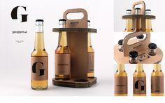 Garagantua on Behance Beer Caddy, Beer Mats, Event Poster Design, Cardboard Packaging, Beer Brands, Bottle Packaging, Bottle Design, Kombucha, Craft Beer