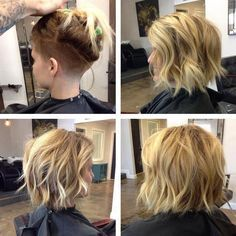 Spruce up your style and really let those locks hang delicately by completely shaving off the strands underneath.