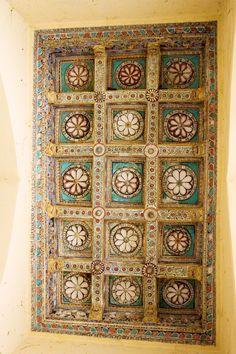 Intricately carved door, Thirumalai Nayak Palace, Madurai