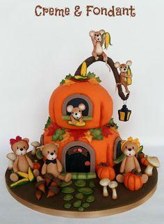 Autum cake - cake by Creme & Fondant