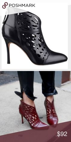 """Nine West Bootie Heels """"Darenne Cutout Ankle Bootie Black;"""" amazing condition, never been walked in Nine West Shoes Ankle Boots & Booties"""