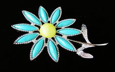 Vintage Sarah Coventry Daisy Time Brooch by EclecticallyMine on Etsy