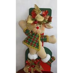 muñecos navideños 2015 2016 - Buscar con Google Felt Christmas Decorations, Christmas Stockings, Christmas Ornaments, Holiday Decor, Christmas Sewing, Christmas Cross, Merry Christmas, Christmas Ideas, Felt Crafts
