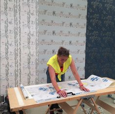 Our @decorex_international stand is starting to take shape! Thank you so much Sullivan Beare for hanging our wallpapers so beautifully #wallpaper #wallcoverings #drawing #illustration #design #decorex2015 #inspiration #interiordesign #home #luxury #decor