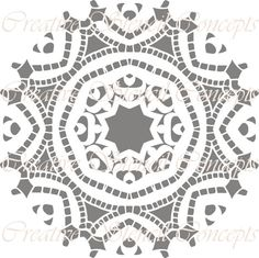 Traditional Mandala  Decorative Stencil MULTIPLE SIZES AVAILABLE on Industry Standard 10 Mil Mylar Design 56305549 on Etsy, $12.95