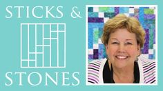 Isn't this beautiful?! The Sticks and Stones Quilt: Easy Quilting Tutorial with Jenny Doan of Missouri Star Quilt Company!