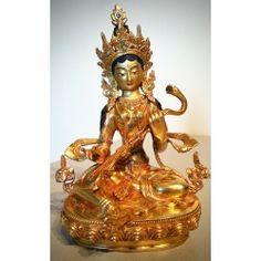 Sarasvati beeld gold plated