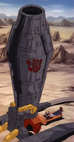 """Transformers Omega Supreme, with Carly, Spike, Powerglide and Optimus Prime (from """"Blaster Blues"""") Comic Book Characters, Comic Books Art, Transformers Autobots, Transformers Toys, Original Transformers, Transformers Generation 1, Old School Cartoons, Geek Art, Robots"""
