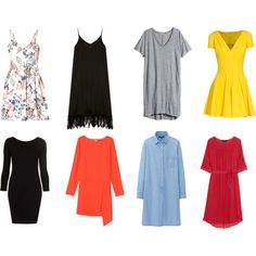 A fashion look from April 2014 featuring long shirt dress, short-sleeve dresses and red long sleeve dress. Browse and shop related looks. Capsule Wardrobe, Shoe Bag, Stuff To Buy, Shopping, Collection, Dresses, Design, Women, Fashion