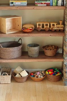 round baskets for playroom storage