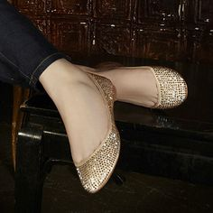 Sparkly Steve Madden flats I wore for our wedding.