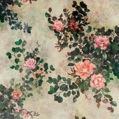 Upholstery velvet sand w big roses - Super soft romantic fabric. Ideal for home decoration.