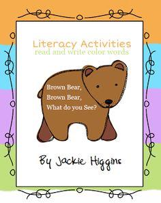 Brown Bear Brown Bear Activities, Bill Martin Jr.