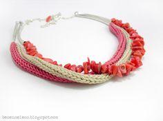Airali handmade. Where is the Wonderland? Crochet, knit and amigurumi.: Uncinetto, lino e corallo
