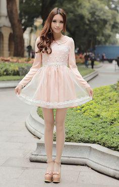 Mango Doll - Floral Princess Lace Chiffon Dress, $45.00 (http://www.mangodoll.com/all-items/floral-princess-lace-chiffon-dress/)