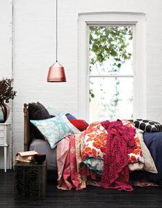 "interior-design-home: ""colorful bedding "" Home Bedroom, Bedroom Decor, Sweet Home, Deco Design, My New Room, Beautiful Bedrooms, Home Fashion, Home Interior, Kitchen Interior"