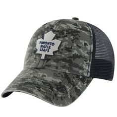 Mens Toronto Maple Leafs '47 Brand Navy Blue/Digital Camo Fortress Flex Hat