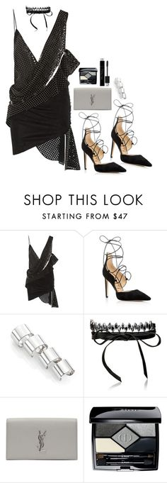 """""""Untitled #1835"""" by samikayy76 on Polyvore featuring Anthony Vaccarello, Sam Edelman, Maison Margiela, Fallon, Yves Saint Laurent and Christian Dior"""