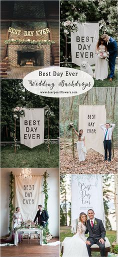 best day ever wedding backdrops