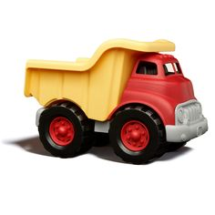 Need help hauling a big load while helping save the planet? The Green Toys™  Dump Truck is ready to get working. Made from 100% recycled plastic milk containers  this really is the most energy efficient vehicle on this or any planet. The super cool eco-design has a workable dumper and no metal axles. This summer 'MUST HAVE' is great for indoors or in the garden!
