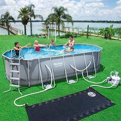 Item for sale is aNew Bestway Power Steel Oval Pool Set with Ladder x x a factory sealed box. Oval Swimming Pool, Oval Pool, Above Ground Swimming Pools, In Ground Pools, Solar Pool Cover, Aquaponics Kit, Pool Sizes, Vinyl Pool, Pool Installation