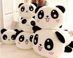 Panda doll cushion! So Kawaii (^-^)