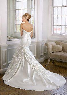 "New Original ""Mori Lee"" by Madeline Gardner wedding gown-Size 14/ Ivory"