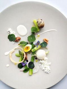 Chef Martyn Meid - The Dock, London - Asparagus dish