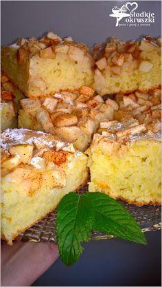 Ciasto z cynamonowym jabłkiem (bez miksera). Szybkie i łatwe ciasto bez miksera.