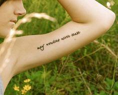 Inner bicep tattoo for girls. Love them!!