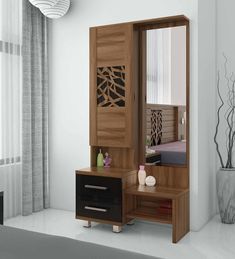 Dressing Table Mirror Design, Dressing Table Wooden, Modern Dressing Table Designs, Wardrobe With Dressing Table, Dressing Table Storage, Dressing Table With Chair, Bedroom Dressing Table, Dressing Room Design, Bed Storage