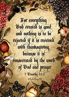 1 Timothy 4:4-5