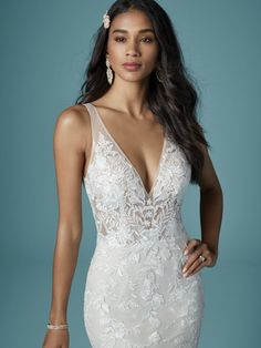 Wedding Dress GREENLEY by Maggie Sottero - Search our photo gallery for pictures of wedding dresses by Maggie Sottero. Find the perfect dress with recent Maggie Sottero photos. Bridal Gowns, Wedding Gowns, Nude Gown, Blush Gown, Prom Boutiques, Maggie Sottero Wedding Dresses, Wedding Dress Pictures, Fit And Flare Wedding Dress, Dress Out