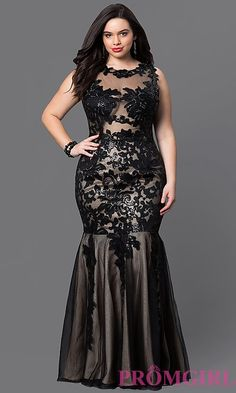 Full-Figure Dresses and Plus-Size Prom Gowns -PromGirl Mermaid Prom Dresses Lace, Pink Bridesmaid Dresses, Prom Dresses With Sleeves, Homecoming Dresses, Sexy Dresses, Beautiful Dresses, Fashion Dresses, Evening Dresses Plus Size, Plus Size Dresses