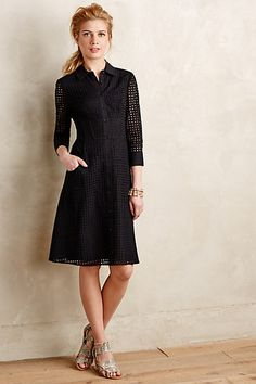 Openwork Shirtdress #anthropologie #anthrofave