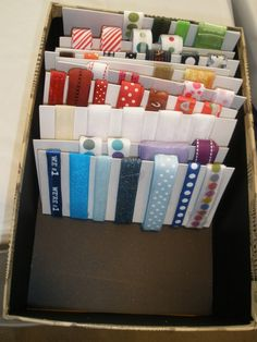 Ribbon storage!  tinkartist.blogspot.com  #ribbon