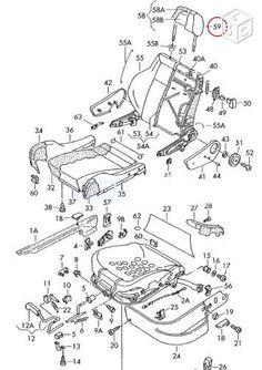 Garnitures tissu interieur RECARO Golf 3 GTI VR6