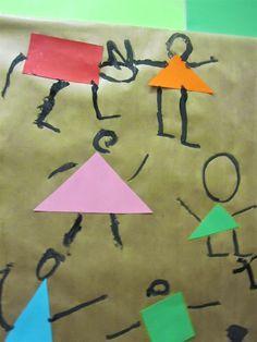 EMOCIONS: LA POR (Paul Klee, Ballant per por) - Material: paper, pintura, pinzel, cartolina , tisores, cola - Nivell: Infantil P4 14/15 Escola Pia Balmes