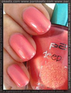 My favourite summer nail colour- Coral nail polish - Summer Nail Purple Ideen Coral Nail Polish, Coral Nails, Glitter Nails, Nail Polishes, Us Nails, Hair And Nails, Spring Nails, Summer Nails, Nail Colour