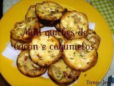 Receitas - Mini quiches de bacon e cogumelos - Petiscos.com