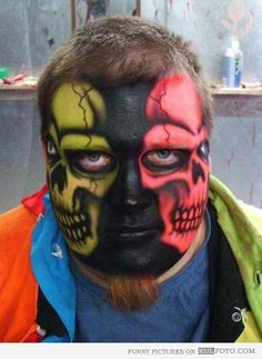 Two face make up