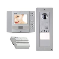 """The Ophera basic #videodoorentrysystem is a modern video door entry system for a single family home. The Ophera flush mount video-audio entry system with a colour 3.5 """"LCD monitor combines elegance with advanced functionality. The Thangram is the new line of BPT modular entry panels which provides high quality video quality and a protection grade of IP54.  More Information can be found on our Website http://doorentrydirect.com/bpt-1-way-silver-ophera-basic-video-entry-kit-p-8316.html?cPath=0"""